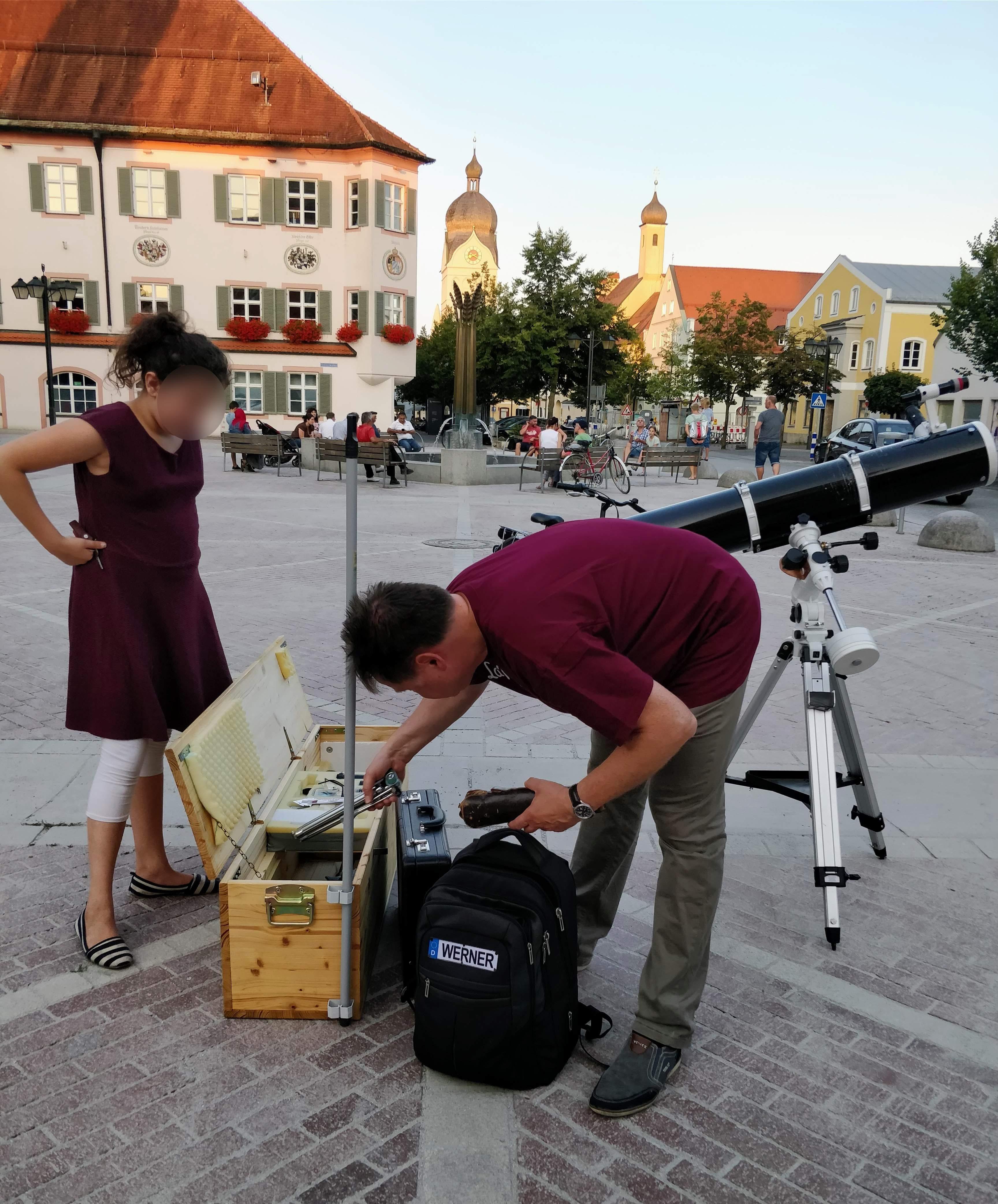 Werner installiert seine Anlage (lw)